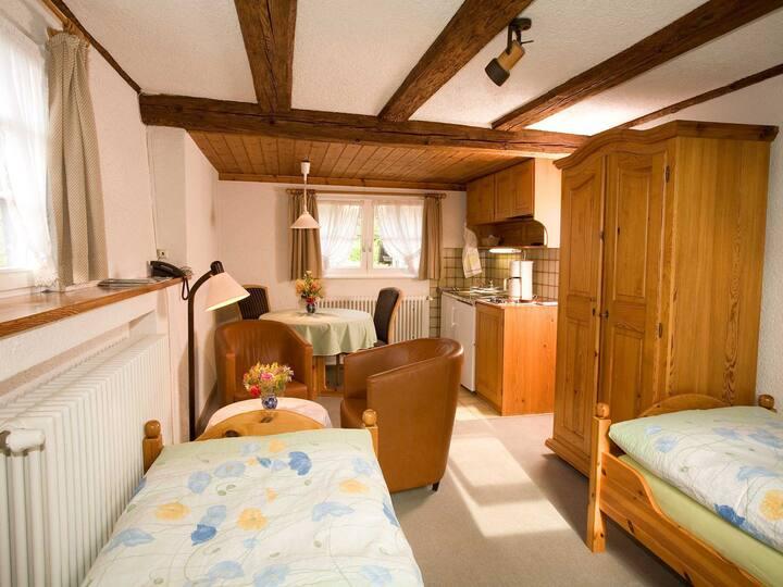 Appartements Tannenhof, (Badenweiler), Appartement A3, 26qm, 1 Wohn-/Schlafzimmer, max. 2 Personen