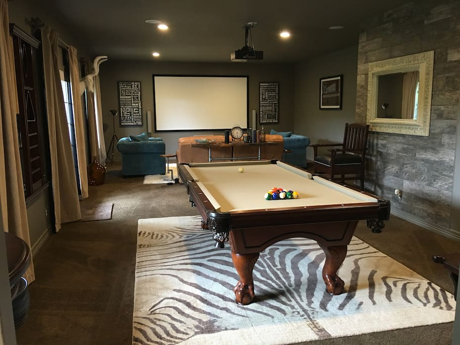 Theater and Pool Table