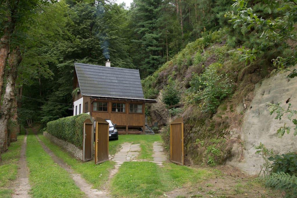 Entrance gate of the Cottage, summer 2017
