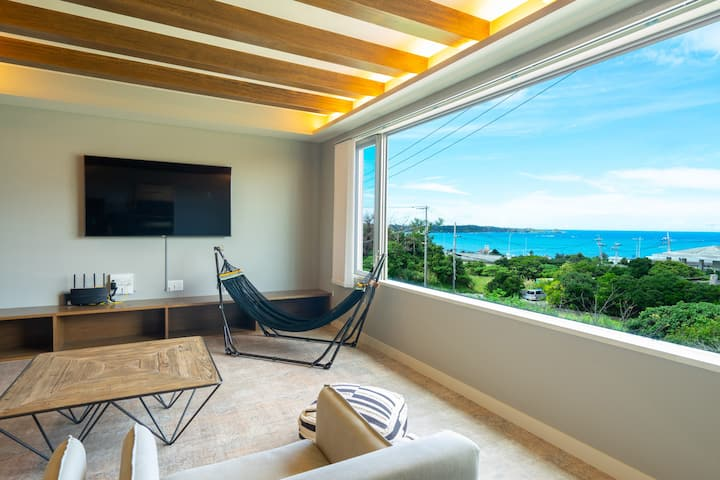 Ocean view luxury private house/3mins to the beach