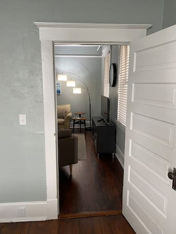 Looking into Living Room from Bedroom
