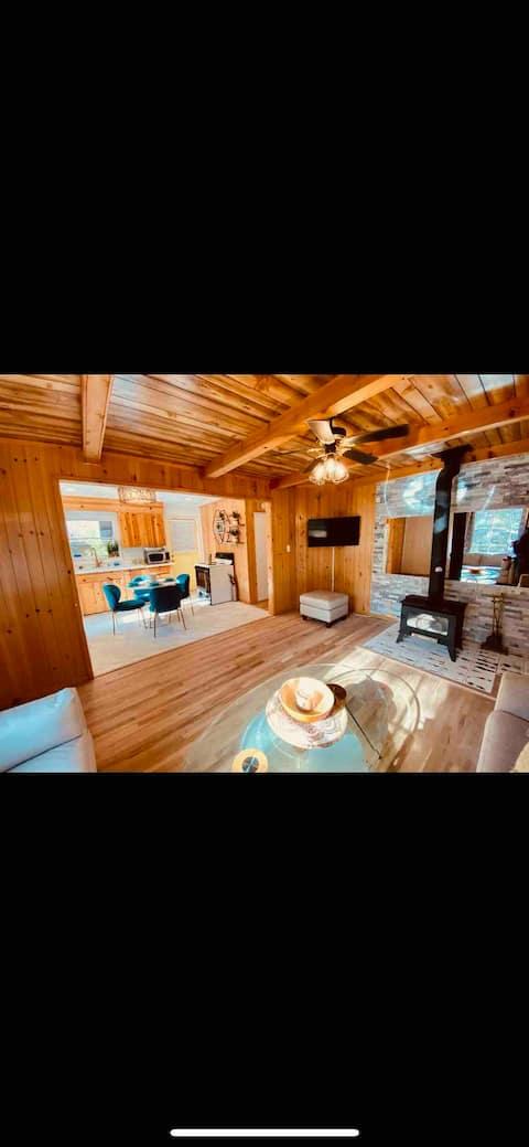 California hot springs cabin