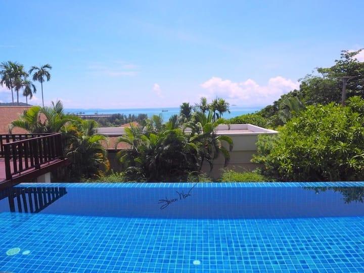 Seaview villa in Ao Yon bay