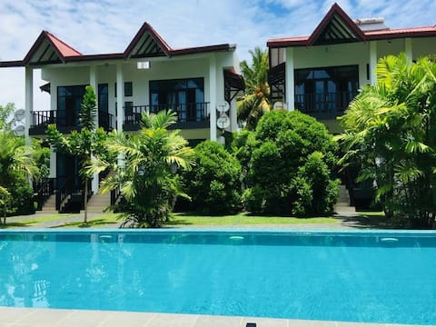 Specious Double AC Room with Pool View (B&B)