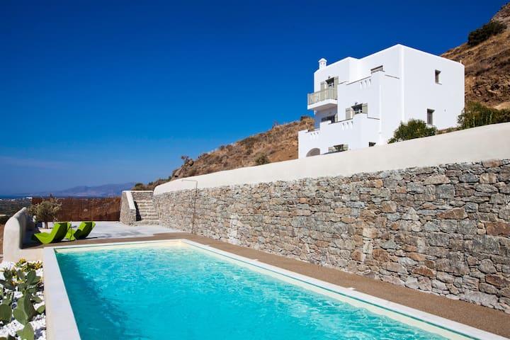 See Naxos Boutique Villa shared pool/shower rain - Naxos - Villa