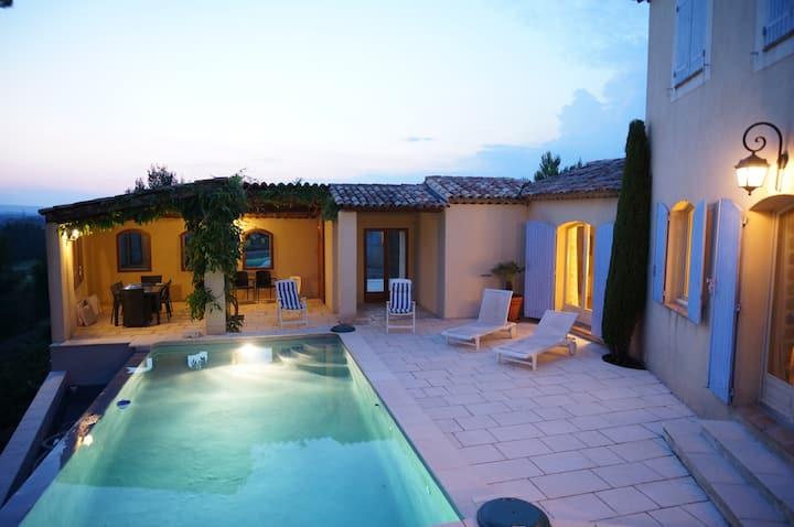 Luxury Sunset Provence Villa private pool golf