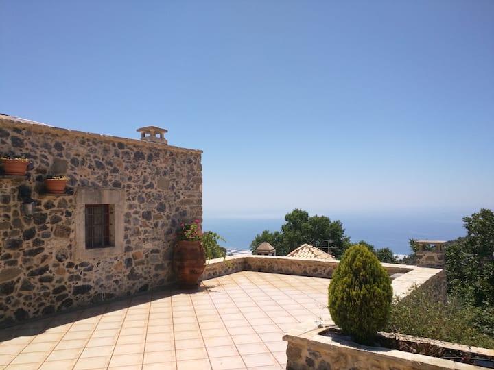 Traditional Stone Sea View Villa, 1 - 8 persons
