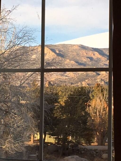 View from the bedroom window.