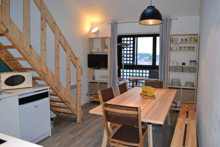 Lacanau Océan : Duplex 6 places en front de mer