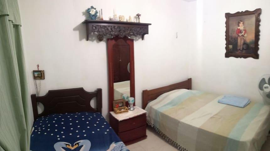 Habitación familiar cómoda para dos personas