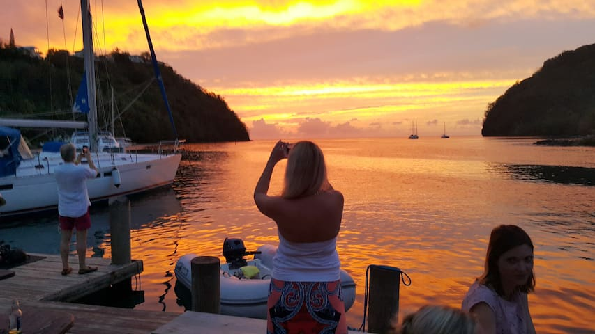 Guest Taking Photos of Sunset