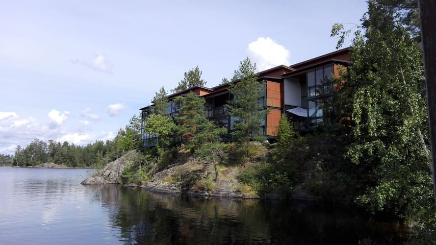 App with sauna and amazing balcony  - Savonlinna - Rekkehus