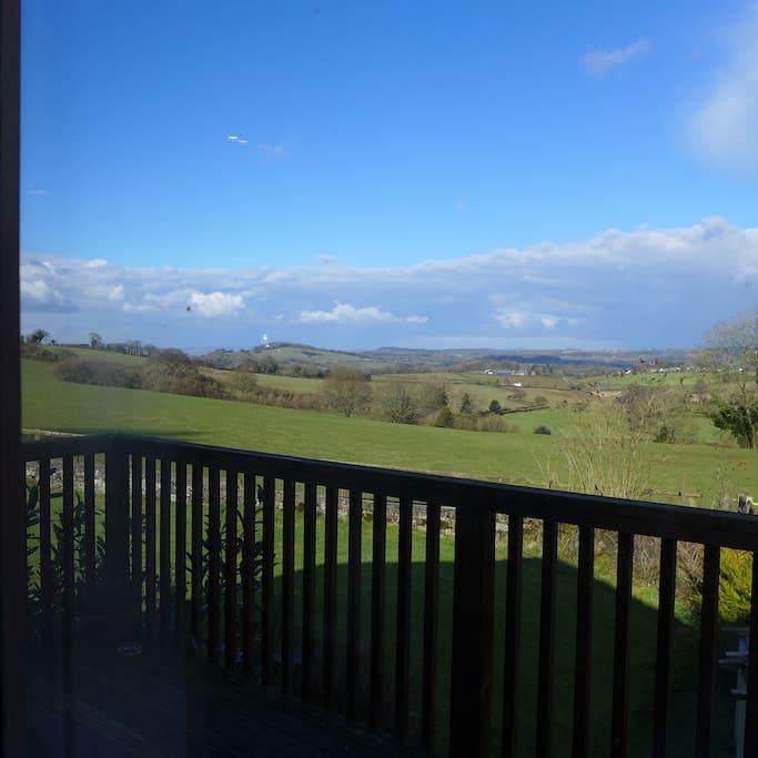 View from Ruardean studio's balcony