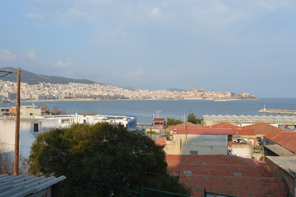 City and sea view