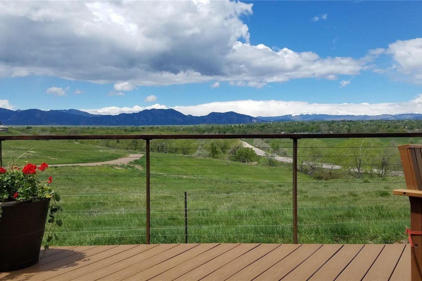 Best front range views in Louisville.  This is the view from the deck, right next to the hot tub.