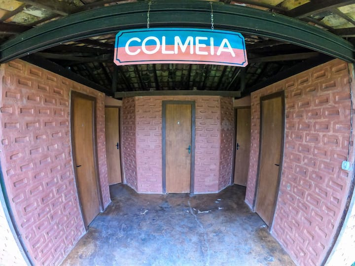 Quartos Colméia no Camping Tiradentes