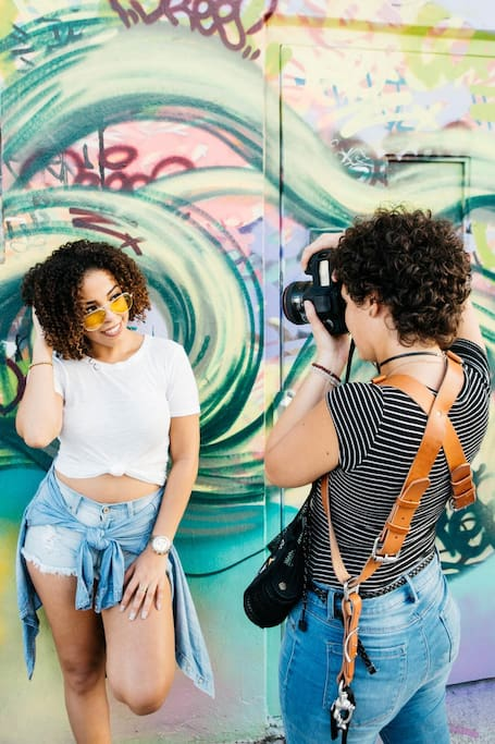 Strike a pose with a photographer