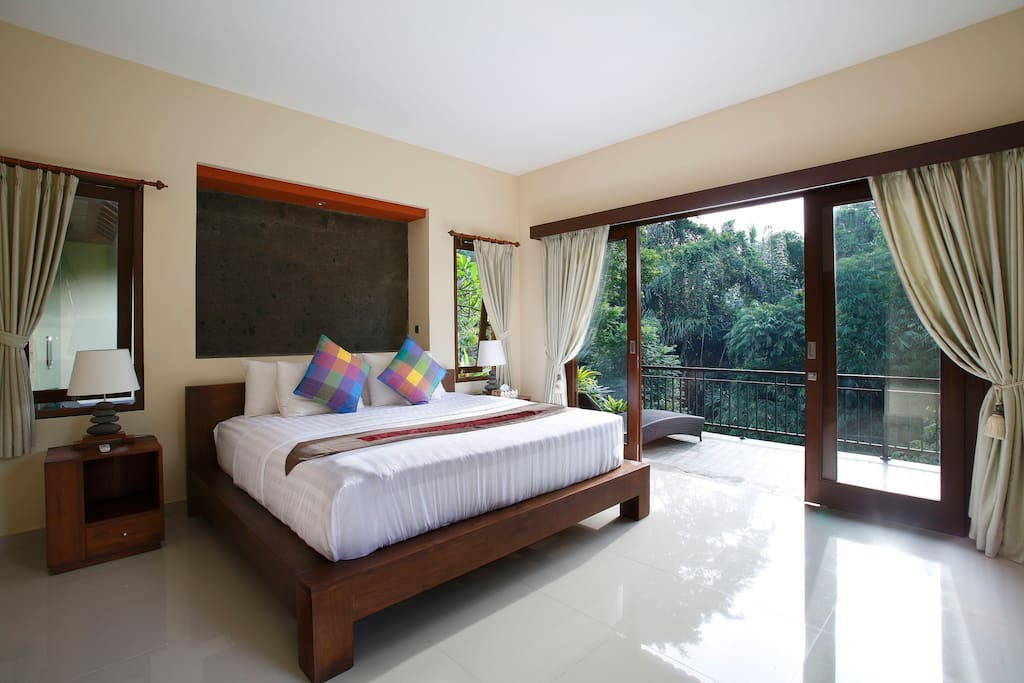 Your bedroom and its super king size bed.