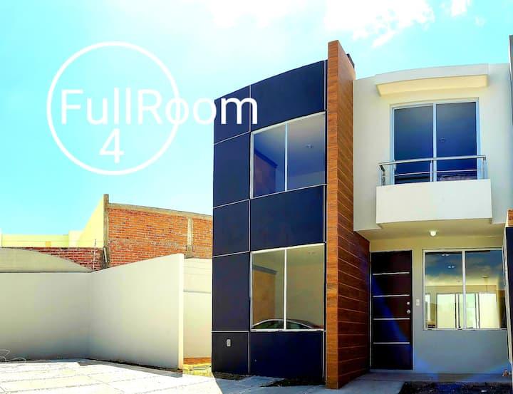 FullRoom #4 Todos los servicios. Cuarto amueblado.