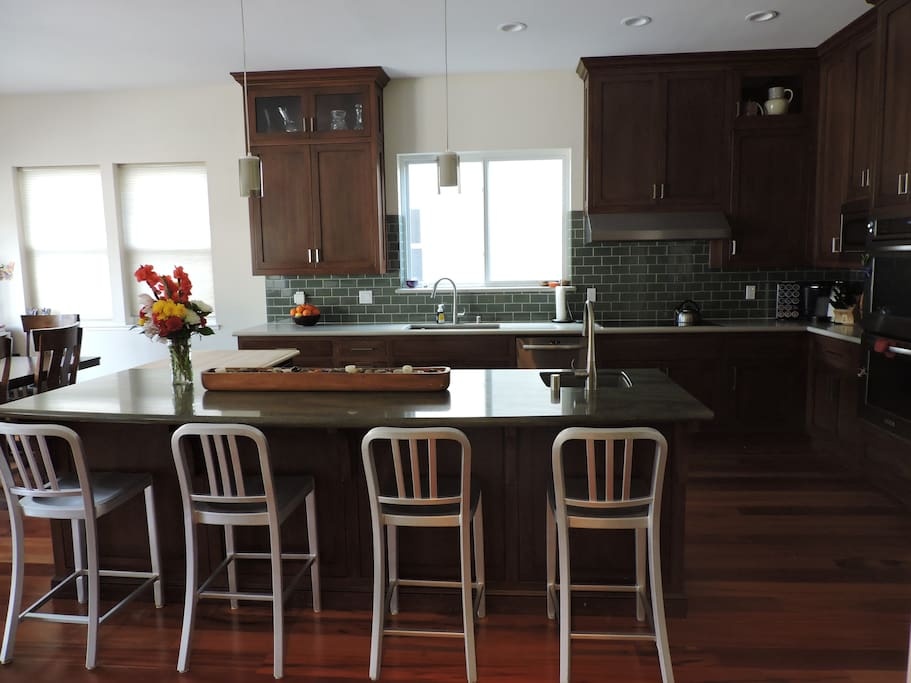 Kitchen includes Double Oven, Two Dishwashers, Large Refrigerator, Coffee Maker and Wine Cooler