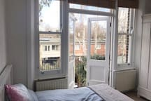 Small White Bedroom in Highbury Family Home