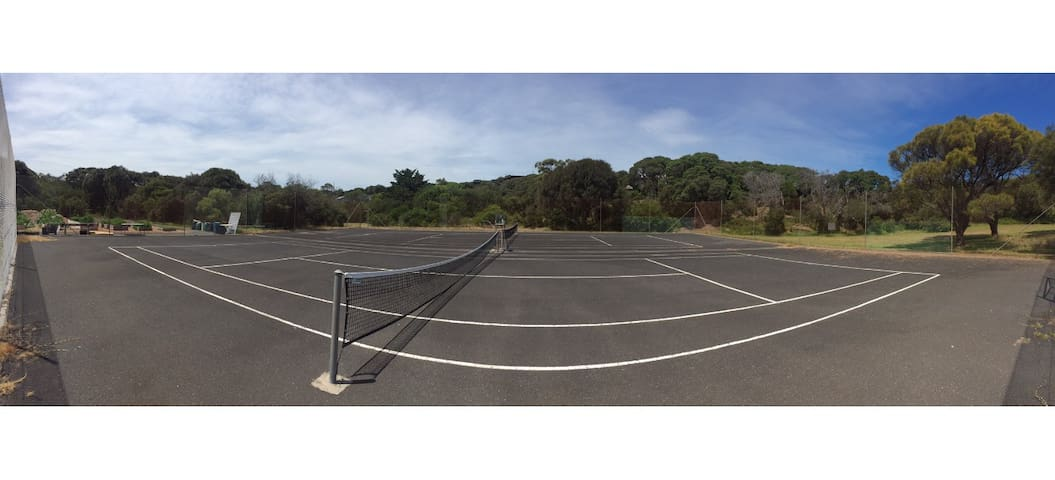 In the reserve behind our house: 2 tennis courts open to the public for FREE. Pack your tennis gear!