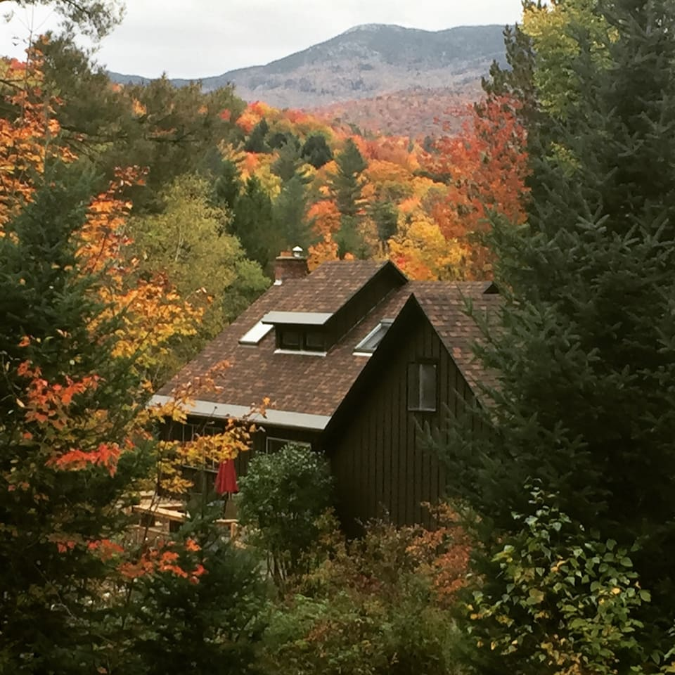 Take stunning Fall foliage photos right from our property this year.  Whether you are traveling for work or simply enjoying some Vermont time, you will love the quiet, serene mountain views and sunsets from various levels of the property.