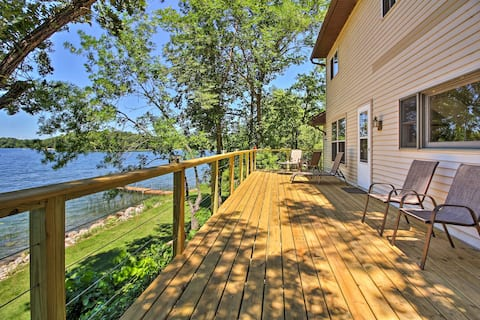 Lakefront Brandon Home w/ Fire Pit, Deck & Dock!