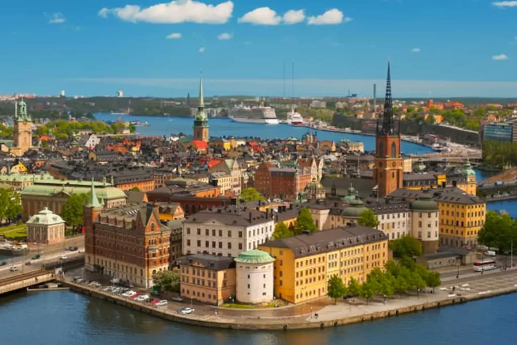 The beautiful Old Town (Gamla Stan) in Stockholm