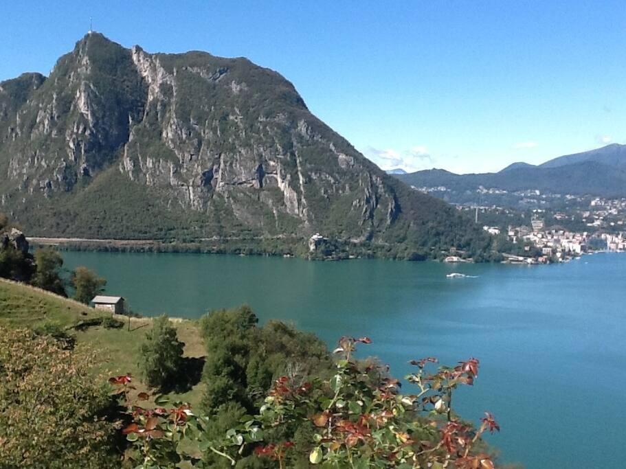 Aussicht auf See und Monte San Salvatore