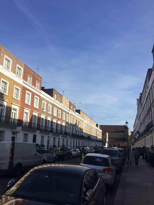 The beautiful Chelsea street we're located on
