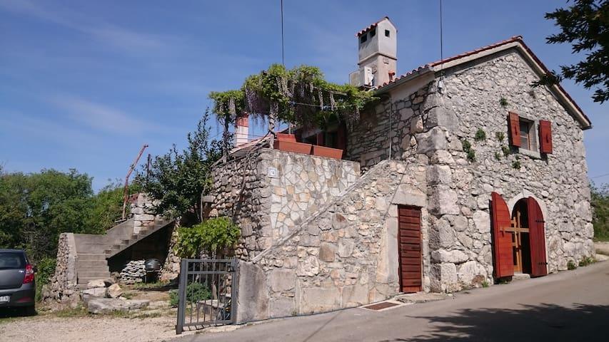 Traditionelles Natursteinhaus mit Meerblick - Linardići - Rumah