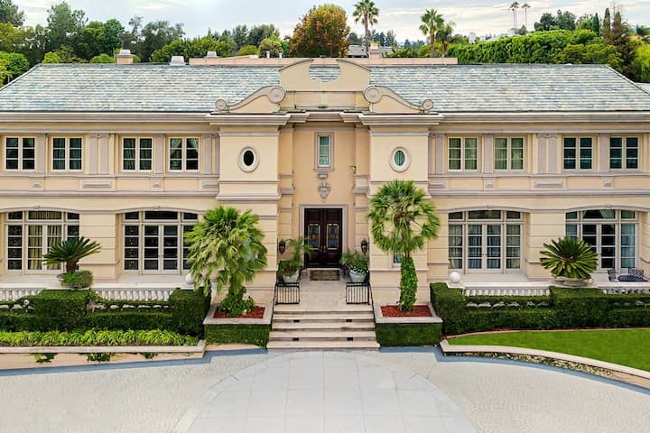 Majestic French Villa in Beverly Hills