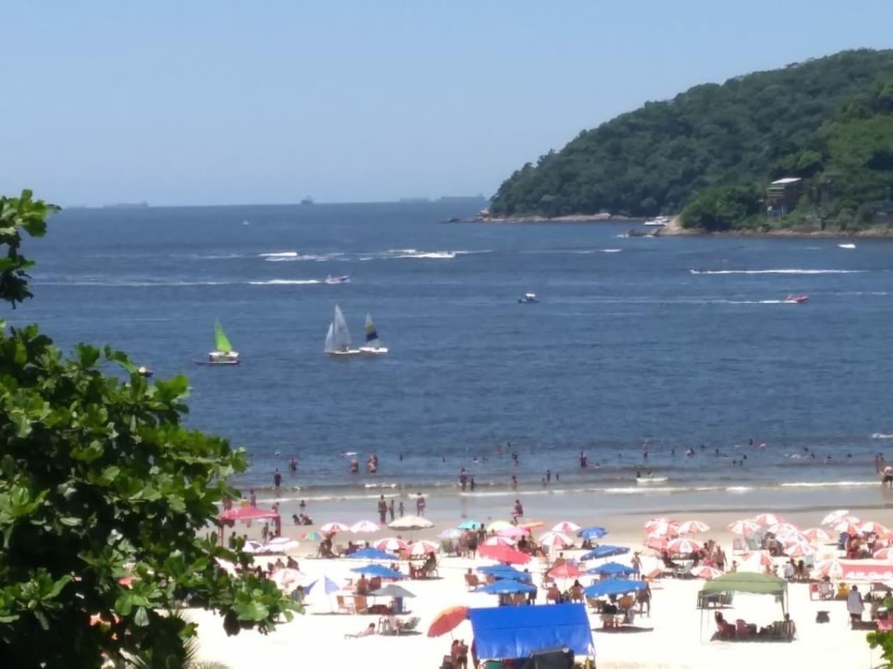 Vista da praia de Gonzaguinha