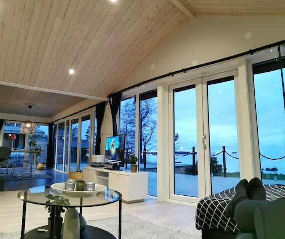 Seaview, private swimmingpool and sauna.