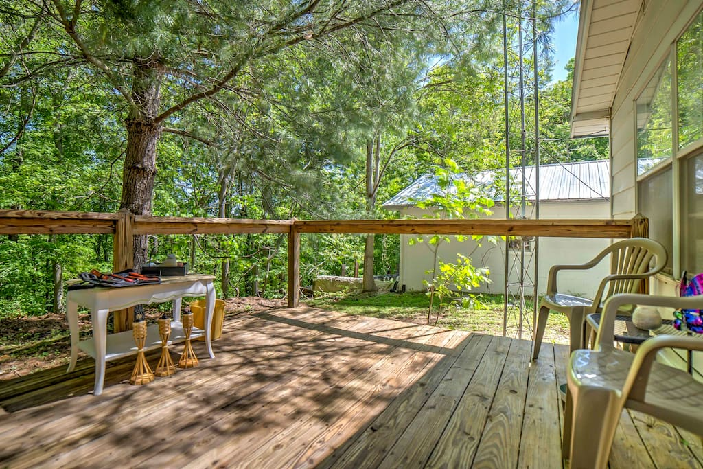 The spacious back deck is the perfect place to enjoy the outdoors.