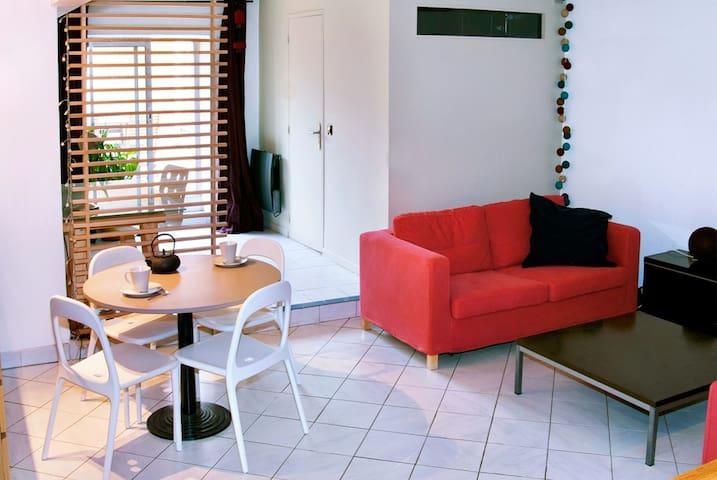 Charmant T2, 57m² avec 1 CH et terrasse de 30m²