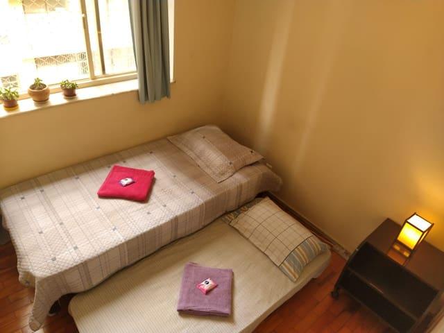 Duas camas para melhor comodidade