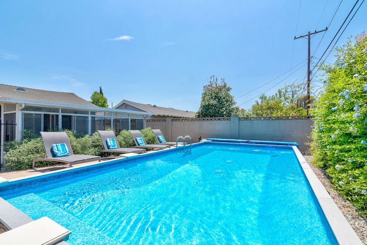 Walk to DLand, Large Backyard with Pool!
