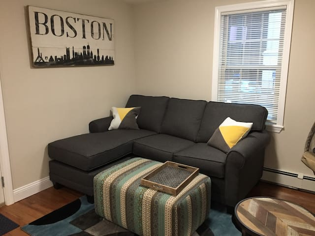 Living room area - relax after a day of exploring Boston