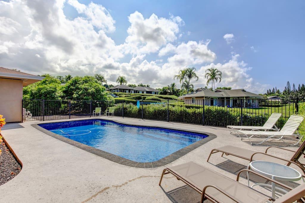Lounge Poolside with Ocean Views
