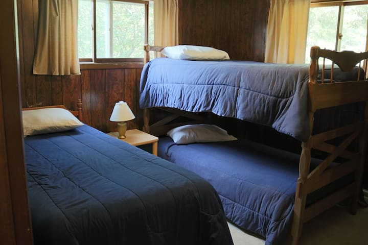 Who doesn't love bunk beds? Also includes a walk in closet.