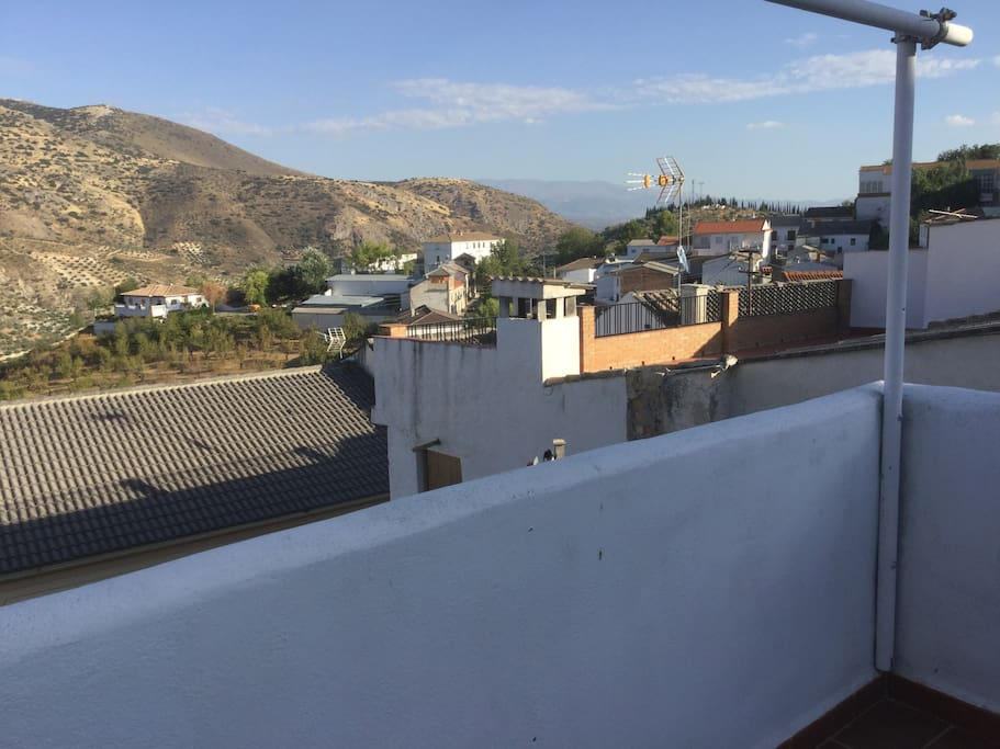 Terrace with views to Sierra Nevada
