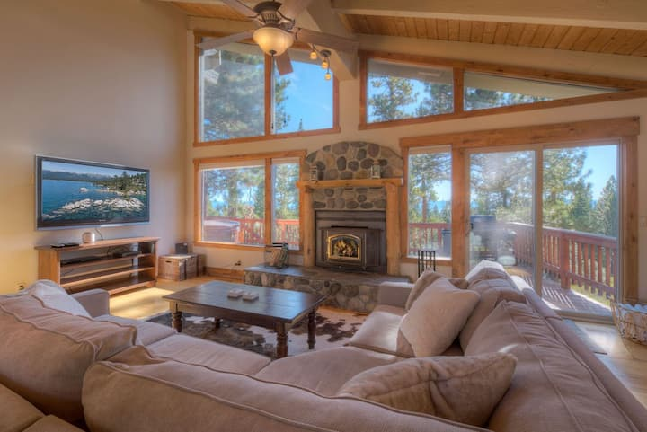 Kings Beach Family Retreat | Lake Views & Hot Tub