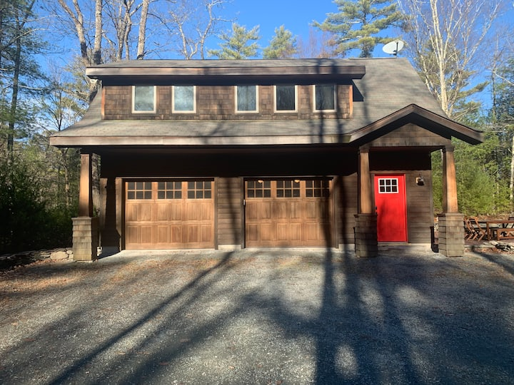 Modern & cozy on 13 private acres all to yourself!