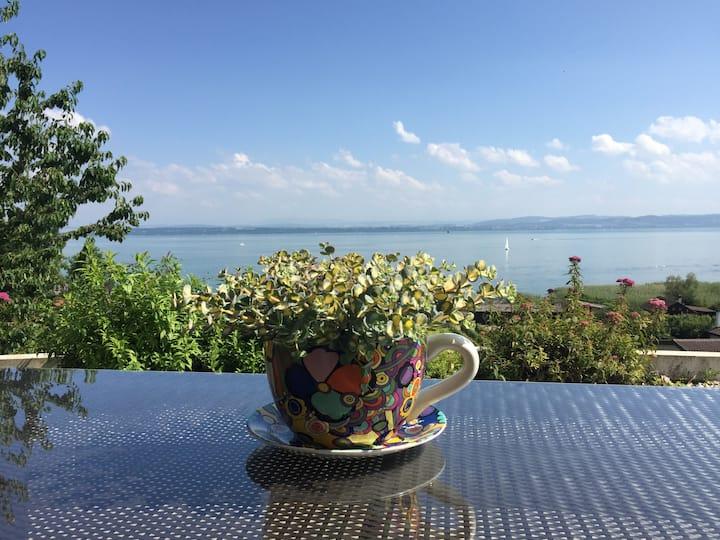 Studio avec vue imprenable sur le lac de Neuchâtel