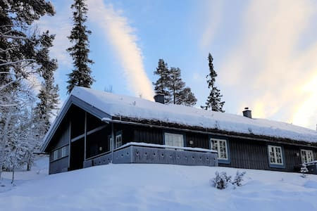Blåbærvegen - Cabin with a view and ski-in-ski-out
