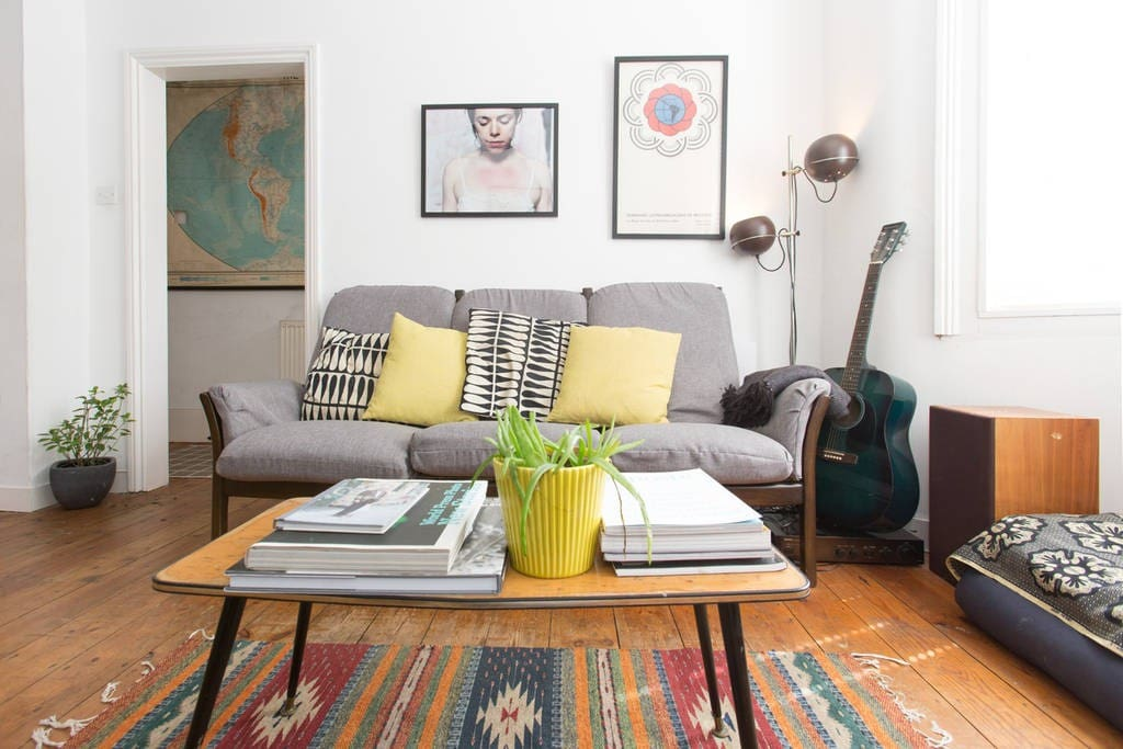 Bright open plan lounge