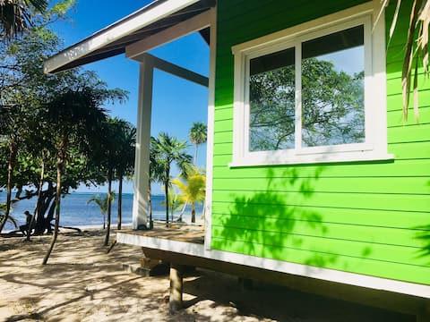 The Paddy Rican Beach Cabins - Green Cabin #5