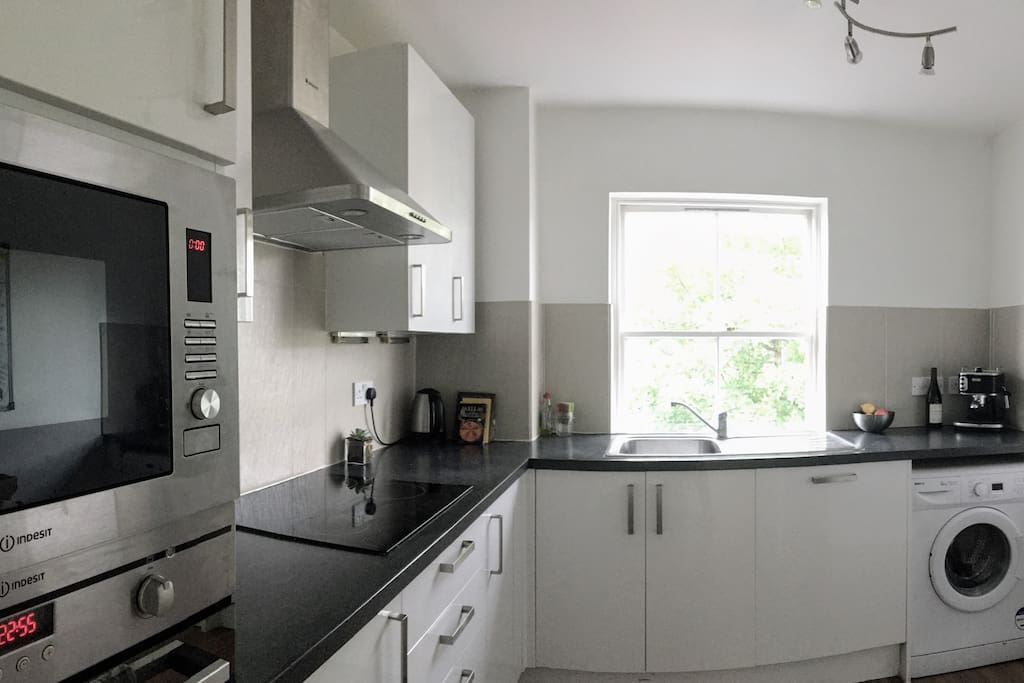 Large kitchen with all appliances